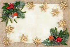 Kerstmis Achtergrondgrens royalty-vrije stock foto