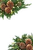 Kerstmis Achtergrondgrens Royalty-vrije Stock Afbeelding