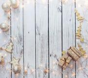 Kerstmis achtergrondkader Stock Afbeeldingen