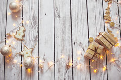 Kerstmis achtergrondkader Stock Afbeelding