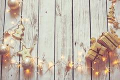 Kerstmis achtergrondkader Stock Foto