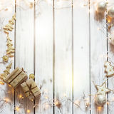 Kerstmis achtergrondkader Stock Fotografie