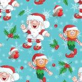 Kerstmis achtergrondpatroon met Santa Claus Vector stock fotografie