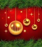 Kerstmis achtergrondrood Stock Afbeelding