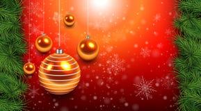 Kerstmis achtergrondrood Royalty-vrije Stock Afbeelding