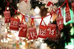 Kerstmis Advent Calendar stock foto's