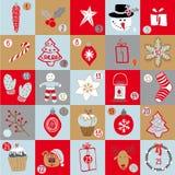 Kerstmis Advent Calendar Royalty-vrije Stock Afbeeldingen