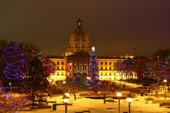 Kerstmis in Alberta Legislature Stock Afbeeldingen