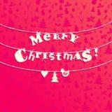 Kerstmis applique achtergrond Royalty-vrije Stock Afbeeldingen