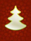 Kerstmis applique met boom. + EPS8 Royalty-vrije Stock Afbeeldingen
