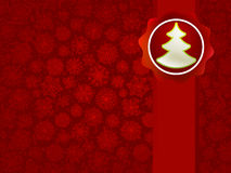 Kerstmis applique met boomachtergrond. + EPS8 Stock Foto's