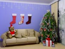 Kerstmis babyroom (childroom) Stock Foto