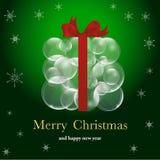 Kerstmis backround met ballen Stock Fotografie