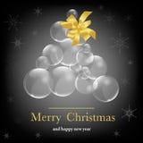 Kerstmis backround met ballen Royalty-vrije Stock Fotografie