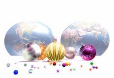 Kerstmis-ballen Royalty-vrije Stock Fotografie