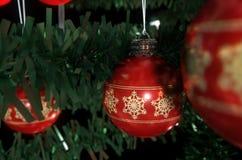 Kerstmis Baubels in een Boom Royalty-vrije Stock Afbeeldingen