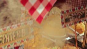 Kerstmis behandelt, Boedapest, Hongarije stock videobeelden