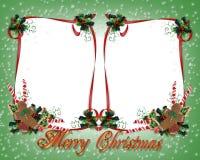 Kerstmis behandelt het Dubbel van de Grens Royalty-vrije Stock Afbeelding