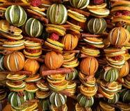 Kerstmis bemerkte gedroogd fruitdecoratie Royalty-vrije Stock Foto's