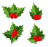 Kerstmis Berry Sign Vector Illustration Royalty-vrije Stock Fotografie