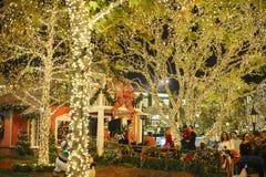 Kerstmis bij winkelcomplex, Glendale Galleria Stock Foto's