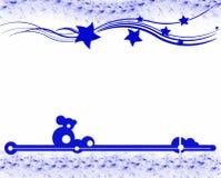 Kerstmis in blauw Stock Afbeelding