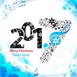 Kerstmis blauwe achtergrondmuziek Royalty-vrije Stock Afbeelding