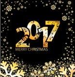 Kerstmis blauwe achtergrondmuziek 2017 Royalty-vrije Stock Afbeelding