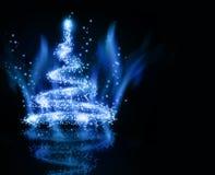 Kerstmis blauwe boom Royalty-vrije Stock Fotografie