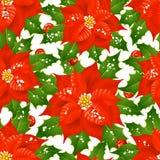 Kerstmis bloeit naadloze achtergrond Royalty-vrije Stock Afbeeldingen
