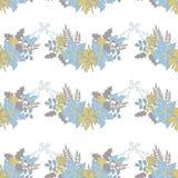 Kerstmis bloemen naadloos patroon Royalty-vrije Stock Afbeelding
