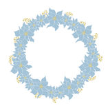 Kerstmis bloemenkader Royalty-vrije Stock Foto's