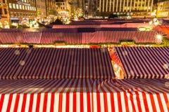 Kerstmis blokkeert Nuremberg (Nuernberg), Duitsland stock afbeeldingen