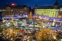 Kerstmis in Boekarest (III) Stock Afbeeldingen