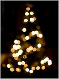 Kerstmis Bokeh Stock Afbeelding