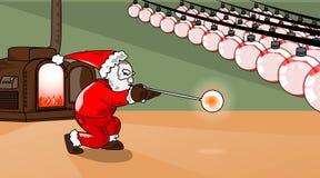 Kerstmis-bol-productie Stock Afbeeldingen