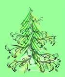 Kerstmis boom vector illustratie
