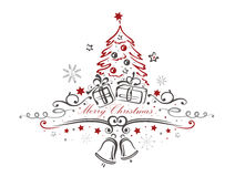 Kerstmis, boom Stock Afbeelding