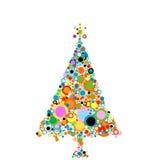 Kerstmis-boom Stock Afbeelding
