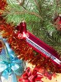 Kerstmis-boom decoratie en giften Royalty-vrije Stock Fotografie