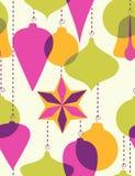 Kerstmis-boom decoratie - naadloos patroon stock illustratie