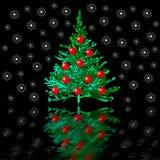 Kerstmis-boom en sneeuw royalty-vrije illustratie