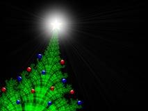 Kerstmis-boom met Kerstmis-Ornamenten Stock Foto