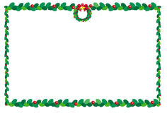 Kerstmis border2 stock illustratie
