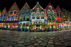 Kerstmis in Brugge Stock Foto
