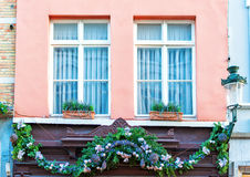 Kerstmis in Brugge Stock Afbeelding