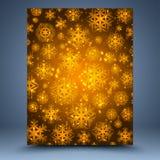 Kerstmis bruine abstracte achtergrond Royalty-vrije Stock Afbeeldingen