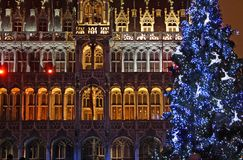 Kerstmis in Brussel Stock Fotografie