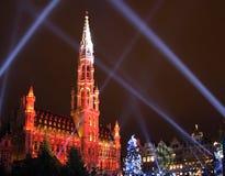 Kerstmis in Brussel royalty-vrije stock foto