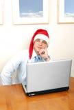 Kerstmis in bureau Stock Foto
